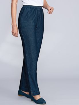 Vented-Hem Jeans and Twill Pants