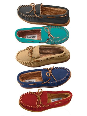 Suede Slipper Moccasins by ComfortEase® - Image 1 of 5