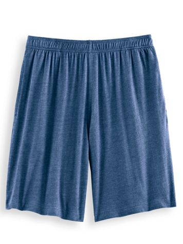 Full-Elastic Relaxed-Fit Jersey Knit Shorts - Image 1 of 5