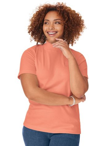 Short-Sleeve Mockneck Top - Image 1 of 14