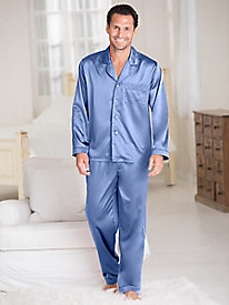 Men's Washable Silk Charmeuse Pajama Set