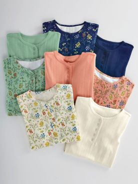 Pointelle Henley Tops