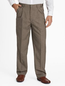 John Blair Relaxed-Fit Mélange Dress Pants
