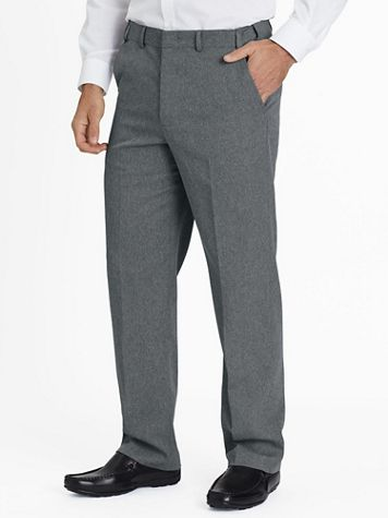 Adjust-A-Band Relaxed-Fit Gabardine Dress Pants - Image 1 of 8