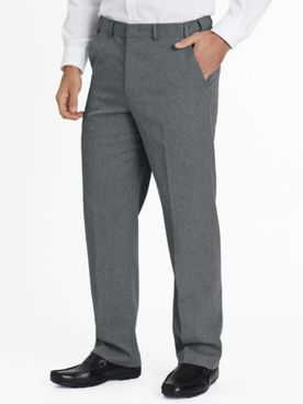 Adjust-A-Band Relaxed-Fit Gabardine Dress Pants
