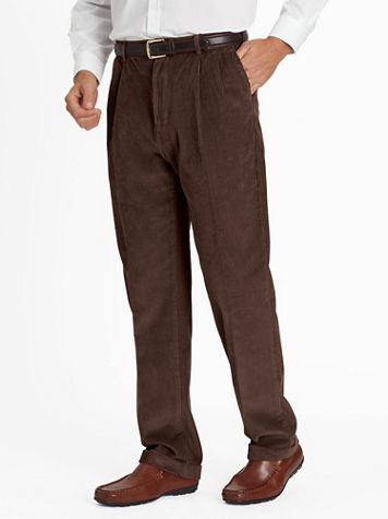 Wide-Wale Pleated and Cuffed Corduroy Pants - Image 4 of 5