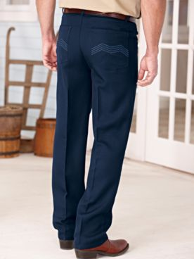 Gentlemen's Classic-Fit Stitched-Pocket Pants