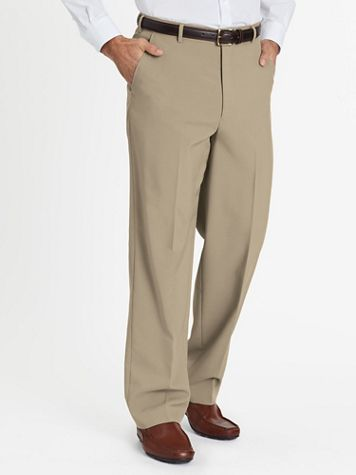 John Blair Relaxed-Fit Plain-Front Dress Pants - Image 1 of 6