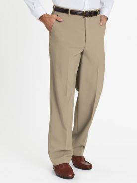 John Blair Relaxed-Fit Plain-Front Dress Pants