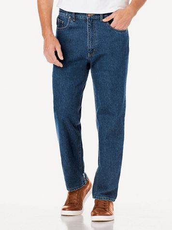 Scandia Woods Relaxed-Fit Side-Elastic Jeans - Image 1 of 5
