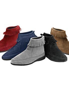 Kaya Fringed Suede Boots