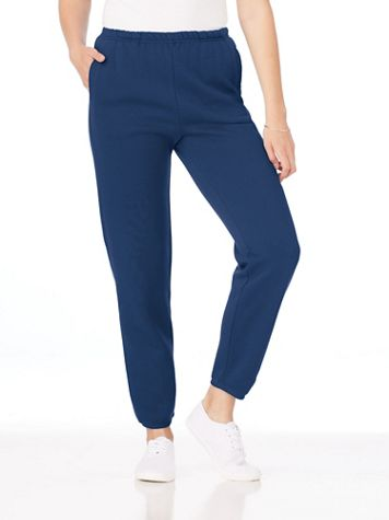 Better-Than-Basic Elastic-Waist Fleece Pants - Image 1 of 8