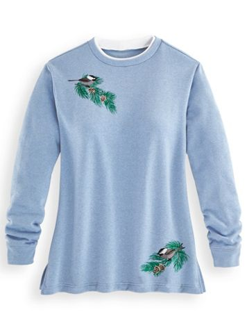 Better-Than-Basic Embroidered Tunic Sweatshirt - Image 2 of 2