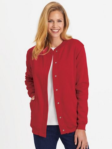 Snap-Front Fleece Jacket - Image 1 of 21