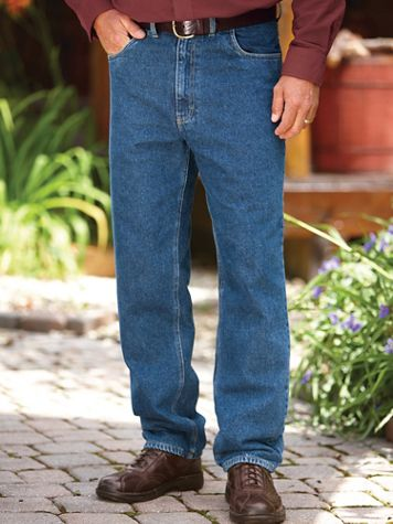 Scandia Woods Flannel-Lined Jeans - Image 1 of 3