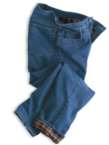 Scandia Woods Flannel-Lined Jeans - Image 2 of 2