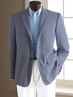 1950s Men's Clothing Irvine Park® Gingham Sportcoat $99.99 AT vintagedancer.com