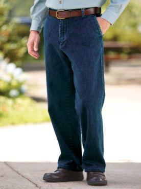 John Blair® Back-Elastic Stretch Denim Jeans