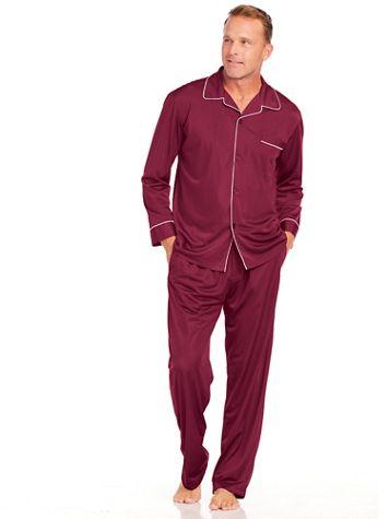 John Blair® Long Tricot Pajamas - Image 1 of 6