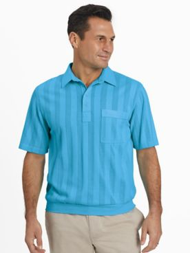 TropiCool® Short-Sleeve Tonal Stripe Polo Shirt