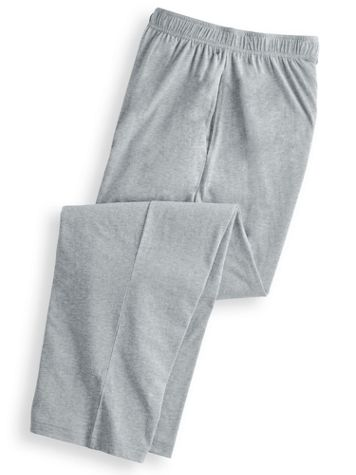 Scandia Woods Elastic-Waist Jersey Knit Pants - Image 1 of 6