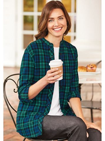 Plaid Flannel Tunic - Image 1 of 7