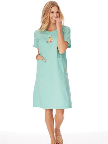 Short-Sleeve Knee-Length Skimmer Dress - Image 1 of 5