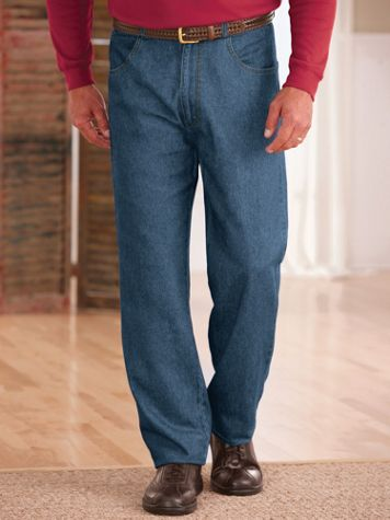 John Blair® Back-Elastic Relaxed-Fit Jeans - Image 1 of 5