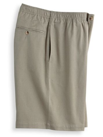 John Blair® Elastic-Waist Twill Shorts - Image 1 of 6