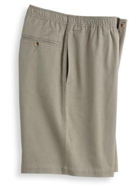 John Blair® Elastic-Waist Twill Shorts