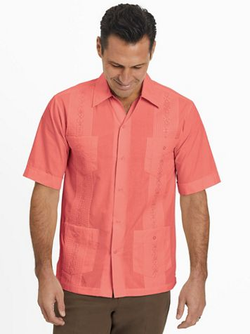 TropiCool Short-Sleeve Guayabera Shirt - Image 1 of 10