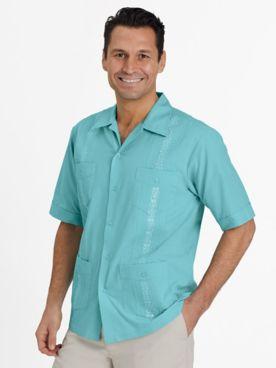 John Blair Short-Sleeve Guayabera Shirt