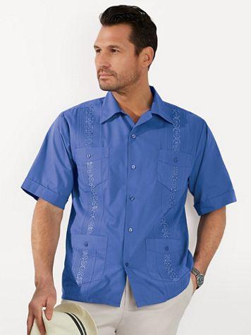 TropiCool Short-Sleeve Guayabera Shirt - Image 1 of 8