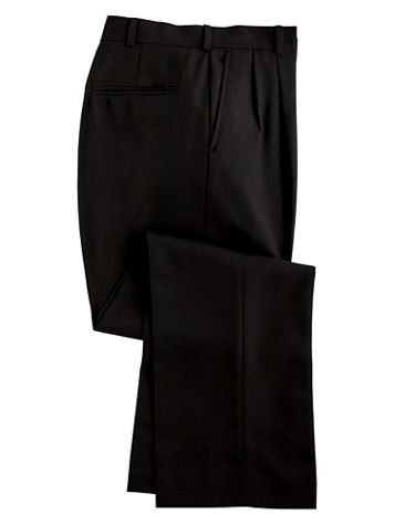 Personal Choice® Poly/Wool Blend Suit Pants - Pleated Front - Image 3 of 5