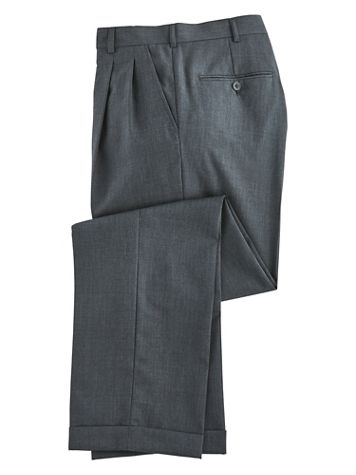 Personal Choice® Poly/Wool Blend Suit Pants - Pleated Front - Image 4 of 5
