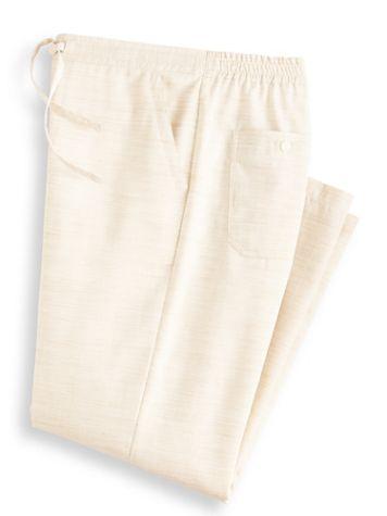 John Blair Relaxed-Fit Linen-Look Drawstring Pants - Image 2 of 2