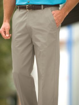 John Blair® Side-Elastic Poplin Pants