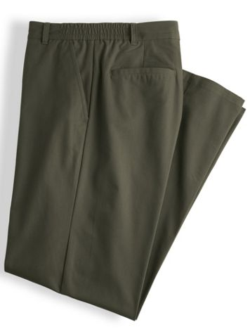 John Blair® Side-Elastic Poplin Pants - Image 2 of 2