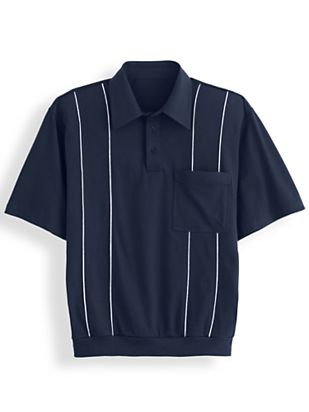 1960s Men's Clothing, 70s Men's Fashion Piped Polo $25.99 AT vintagedancer.com