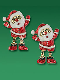Santa Earrings with Moving Legs