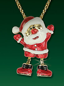 Santa Pendant with Moving Legs