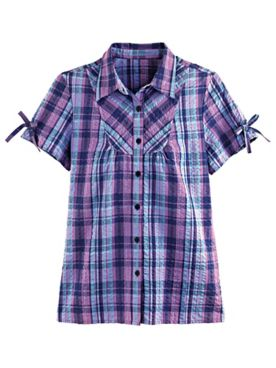 Plaid Seersucker Camp Shirt