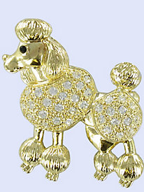 1950s Costume Jewelry Poodle Pin $16.99 AT vintagedancer.com