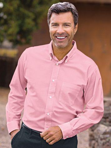 Wrinkle-Resistant Long-Sleeve Oxford Shirt - Image 4 of 6