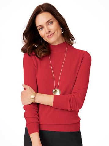 Cashmere-Like Long-Sleeve Sweater - Image 1 of 10