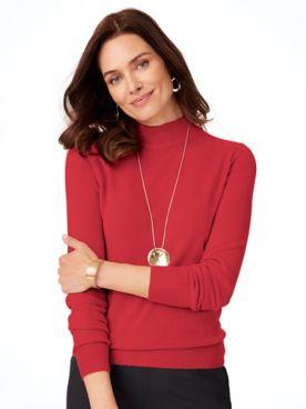 Cashmere-Like Long-Sleeve Sweater