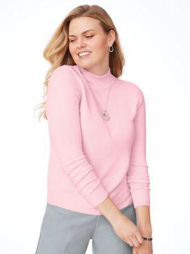 Elisabeth Williams Cashmere-Like Long-Sleeve Sweater