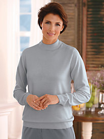 Cashmere-Like Long-Sleeve Sweater by Blair