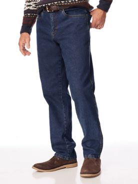 Relaxed-Fit Stretch Denim Jeans