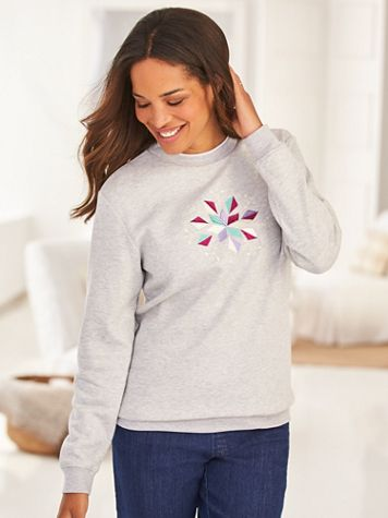 Better-Than-Basic Embroidered Fleece Top - Image 2 of 4